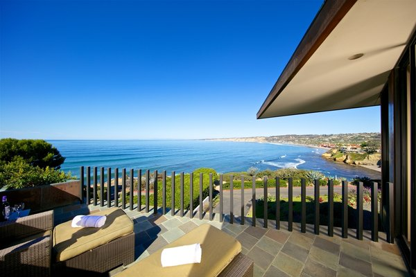 Master Suite Patio with 0cean view Photo 17 of La Jolla Ocean Front Contemporary Home by Henry Hester! modern home