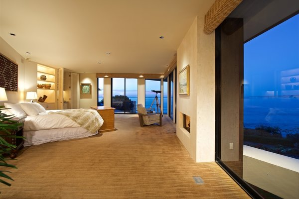 Master suite Photo 15 of La Jolla Ocean Front Contemporary Home by Henry Hester! modern home