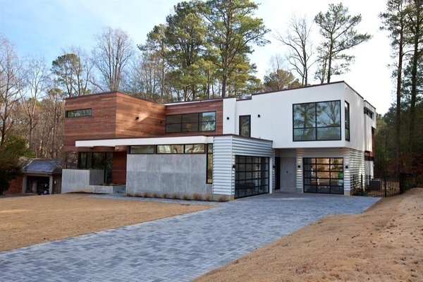 Atlanta Design Economy Credits  Architecture: Plexus r+d General Contractor: Apex Homes, Milani Homes Interior design and millwork: Amir Nejd. Photo  of Nejad Residence modern home