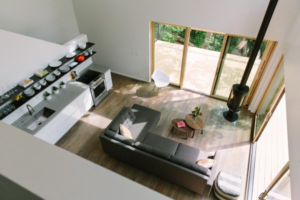 Asheville Design Economy Credits  Architecture & Interior: SPARC Design, PC General Contractor: Rob Motley Construction Photo 5 of 515 Windswept modern home