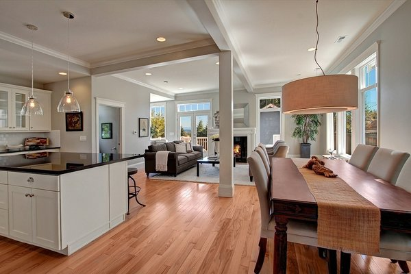 From the outside, the home is a classic victorian, but on the inside the owners wanted an open plan with more up to date finishes and fixtures. Photo 4 of Madrona Victorian modern home