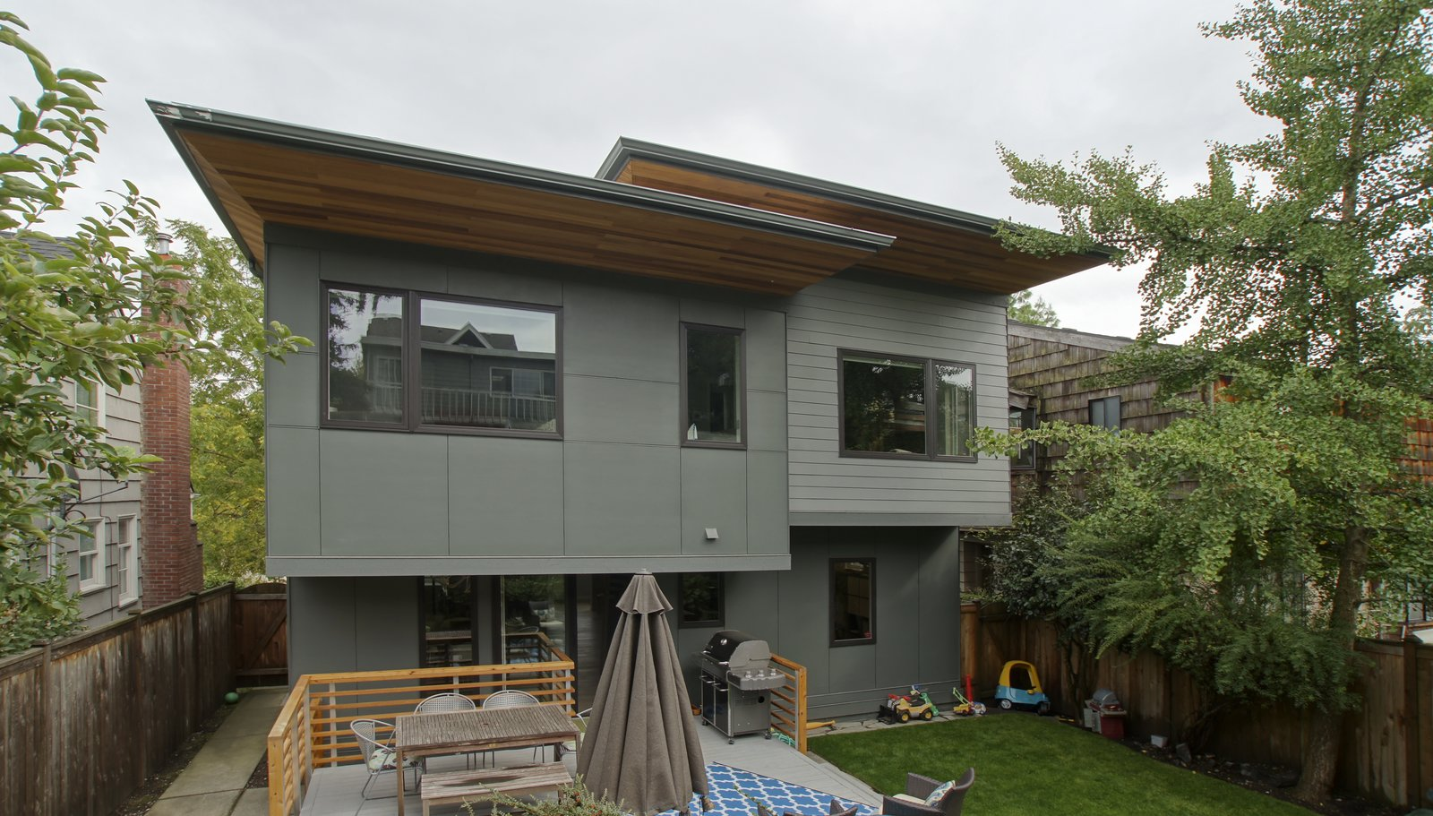 A new deck and connection to the exterior was created in order to take advantage of the new open plan.  Eave House by Atelier Drome