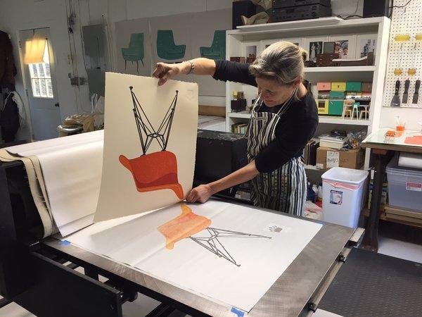Mary Lynn Printmaker Photo 7 of The Birdland Studio modern home