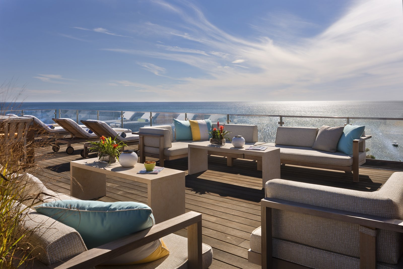 Sweeping views on the spacious roof deck create the perfect place to relax or entertain.