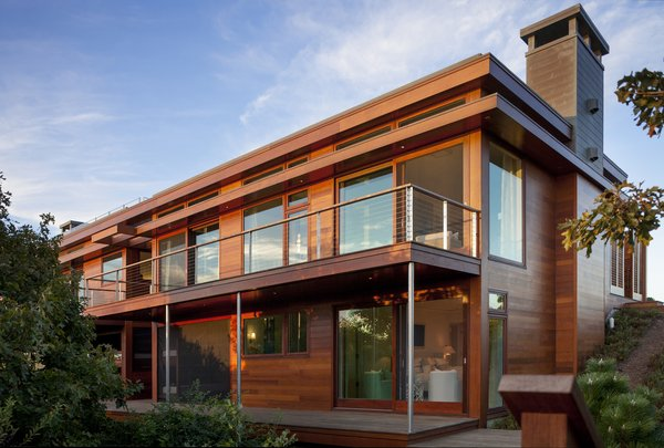 Walls of glass and red cedar define the exterior Photo 12 of The Cape modern home