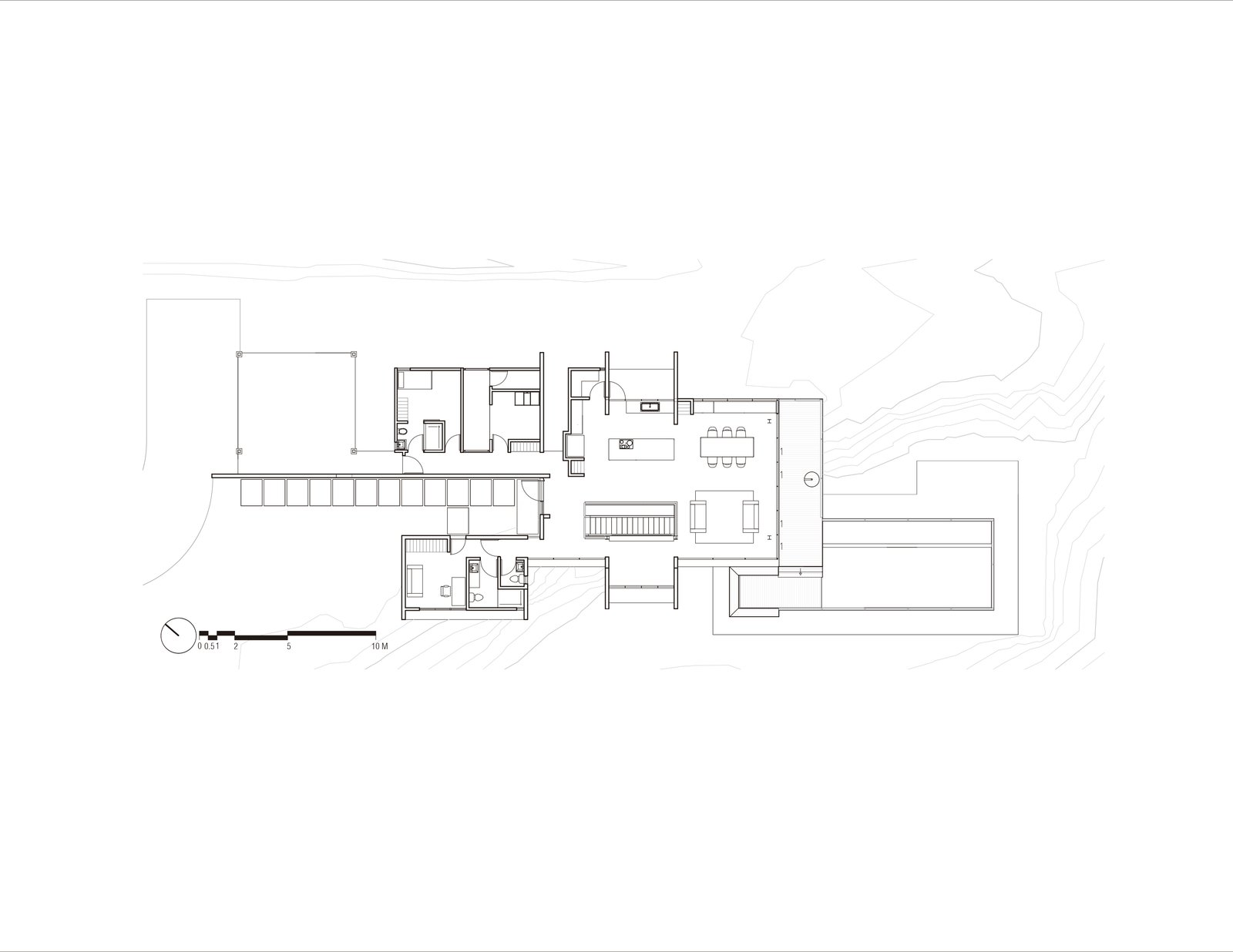 Floor Plan level 0.00  Murray Music by CARAZO ARQUITECTURA