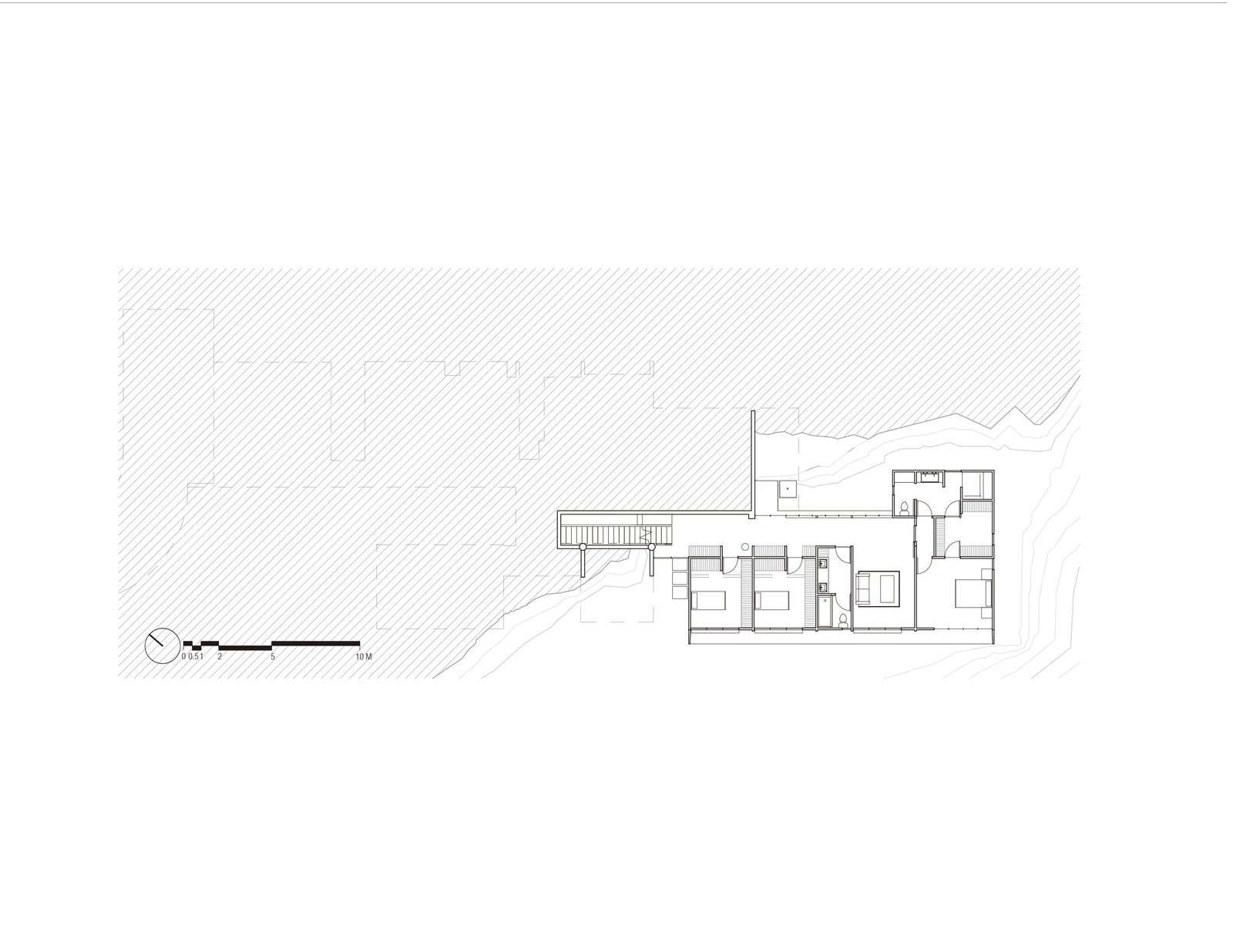 Floor Plan level 0.-4.00  Murray Music by CARAZO ARQUITECTURA