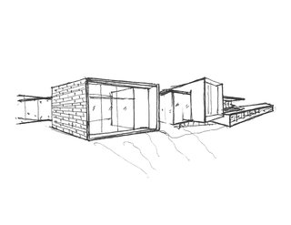 How to Work With an Architect - Photo 3 of 5 - Shown here is an example of a hand-sketched conceptual design.