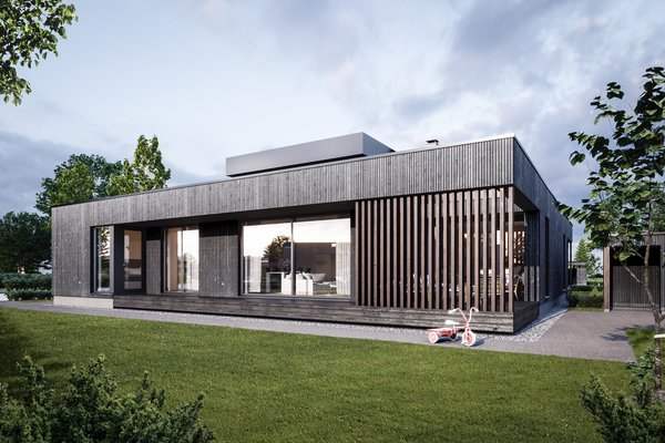 Black on black exteriors Photo 6 of Tuusula modern home