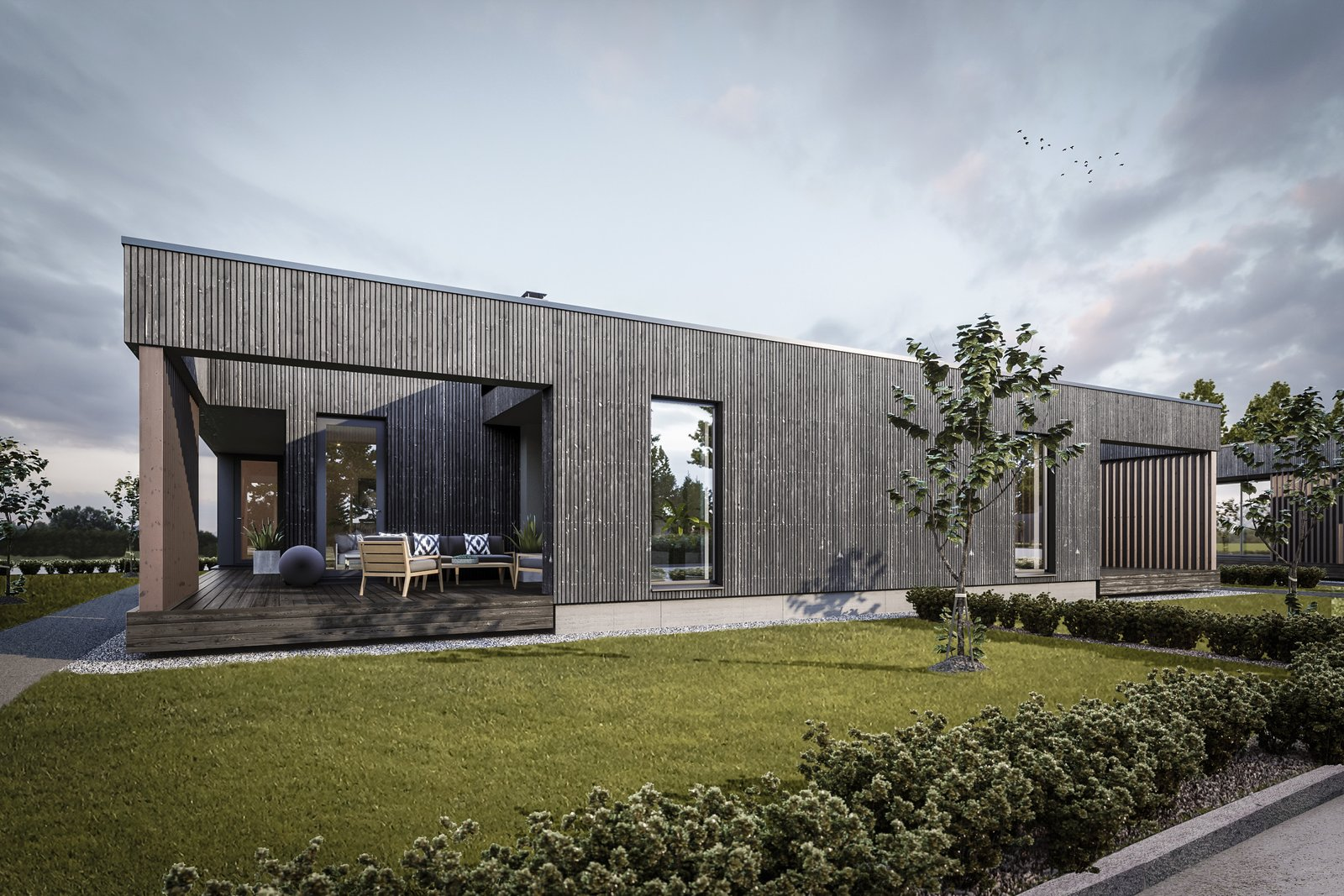 Cross laminated timber was a natural eco-friendly choice.  Tuusula by Alvardag
