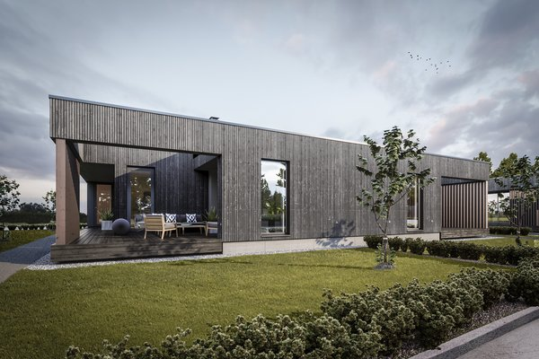 Cross laminated timber was a natural eco-friendly choice. Photo 2 of Tuusula modern home