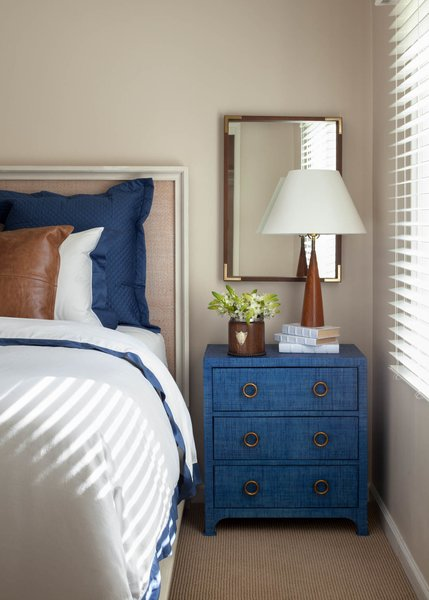 Modern home with bedroom, table lighting, bed, and night stands. Bedroom. Interior design by Carrington Hill Designs. Photo 6 of Atherton Home Design Makeover