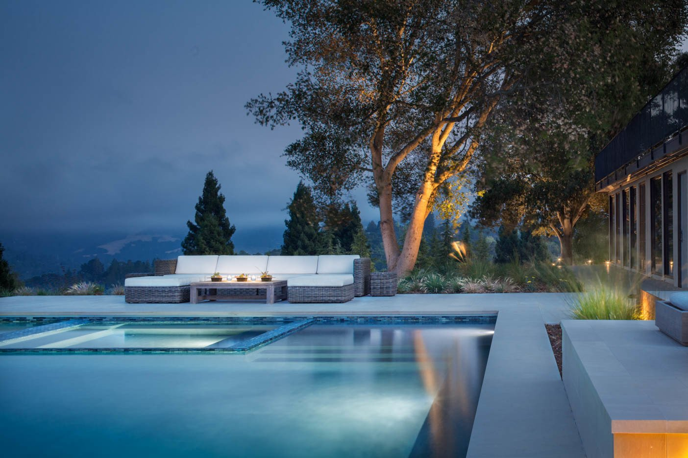 Tagged: Outdoor, Back Yard, Trees, Shrubs, Hardscapes, Large Pools, Tubs, Shower, Large Patio, Porch, Deck, Grass, and Landscape Lighting.  A pool with a view by Agnieszka Jakubowicz