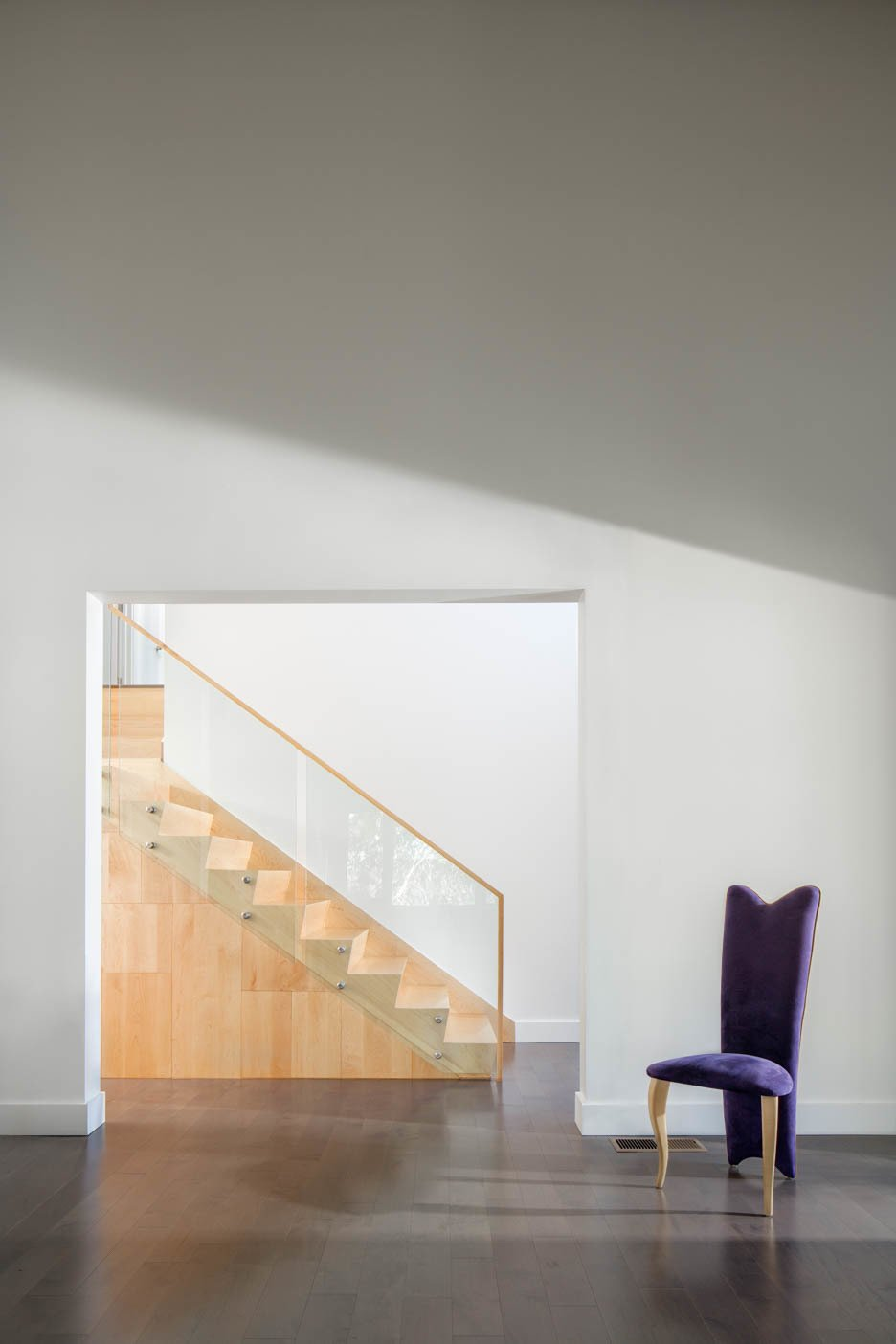 Staircase, view from the living room