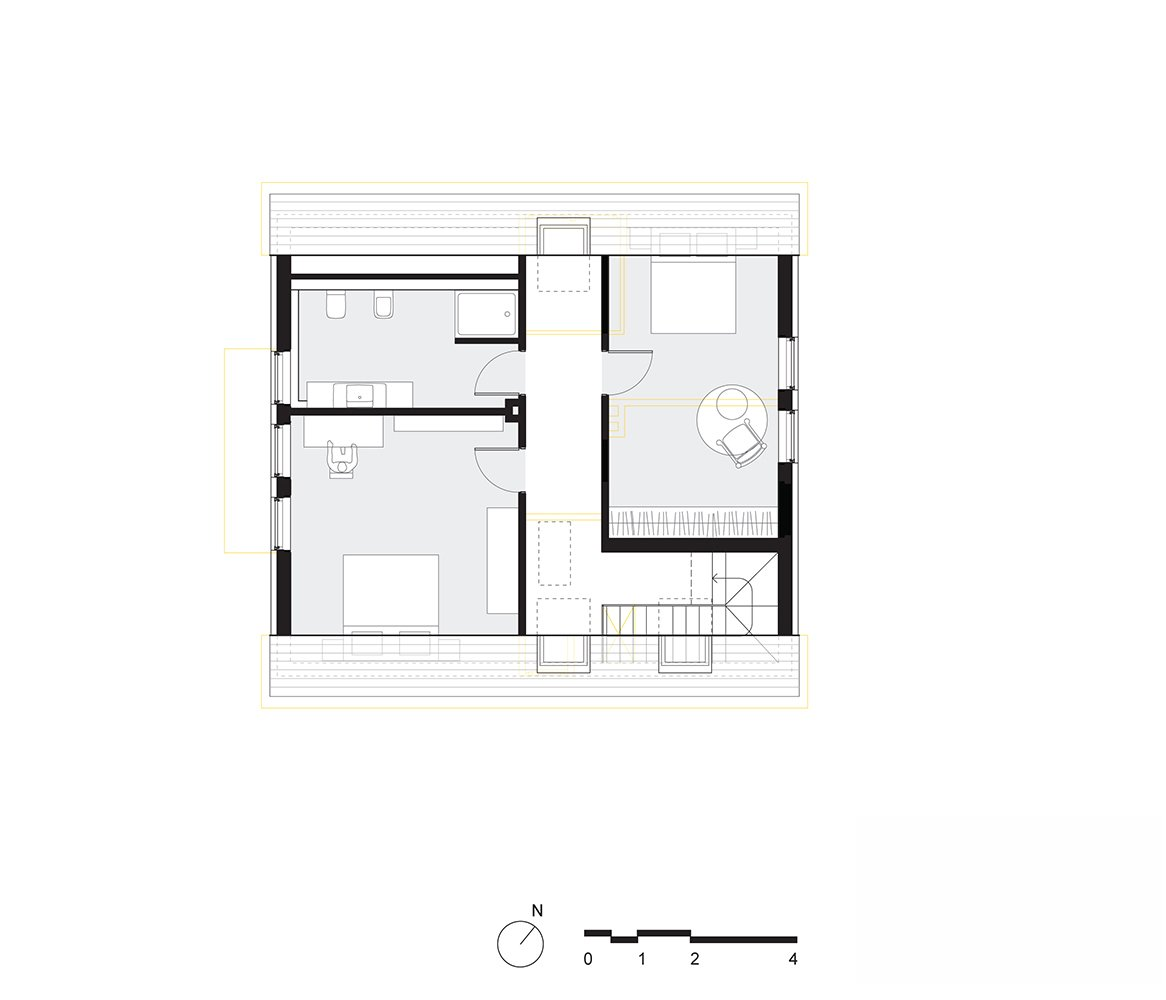 upper floor plan Tagged: Bedroom.  Haus Mai by Project Architecture Company