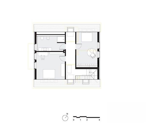 Modern home with bedroom. upper floor plan Photo 2 of Haus Mai