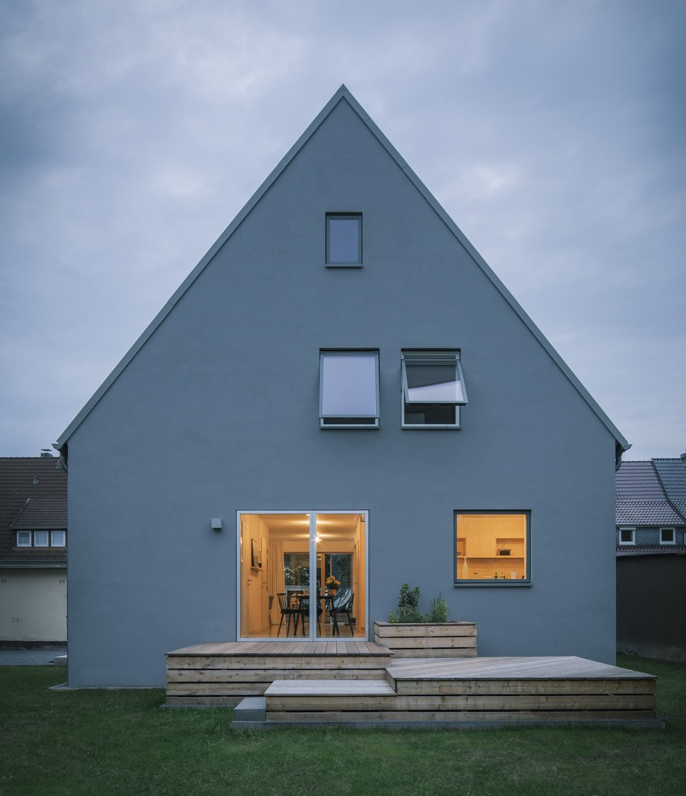 new garden facade Tagged: Outdoor, Decking Patio, Porch, Deck, Back Yard, Wood Patio, Porch, Deck, and Garden.  Haus Mai by Project Architecture Company