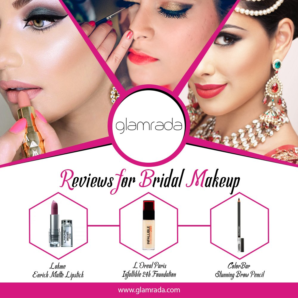 Perfect Bridal Makeup Reviews by Experts   Beauty Products Reviews by Glamrada Official