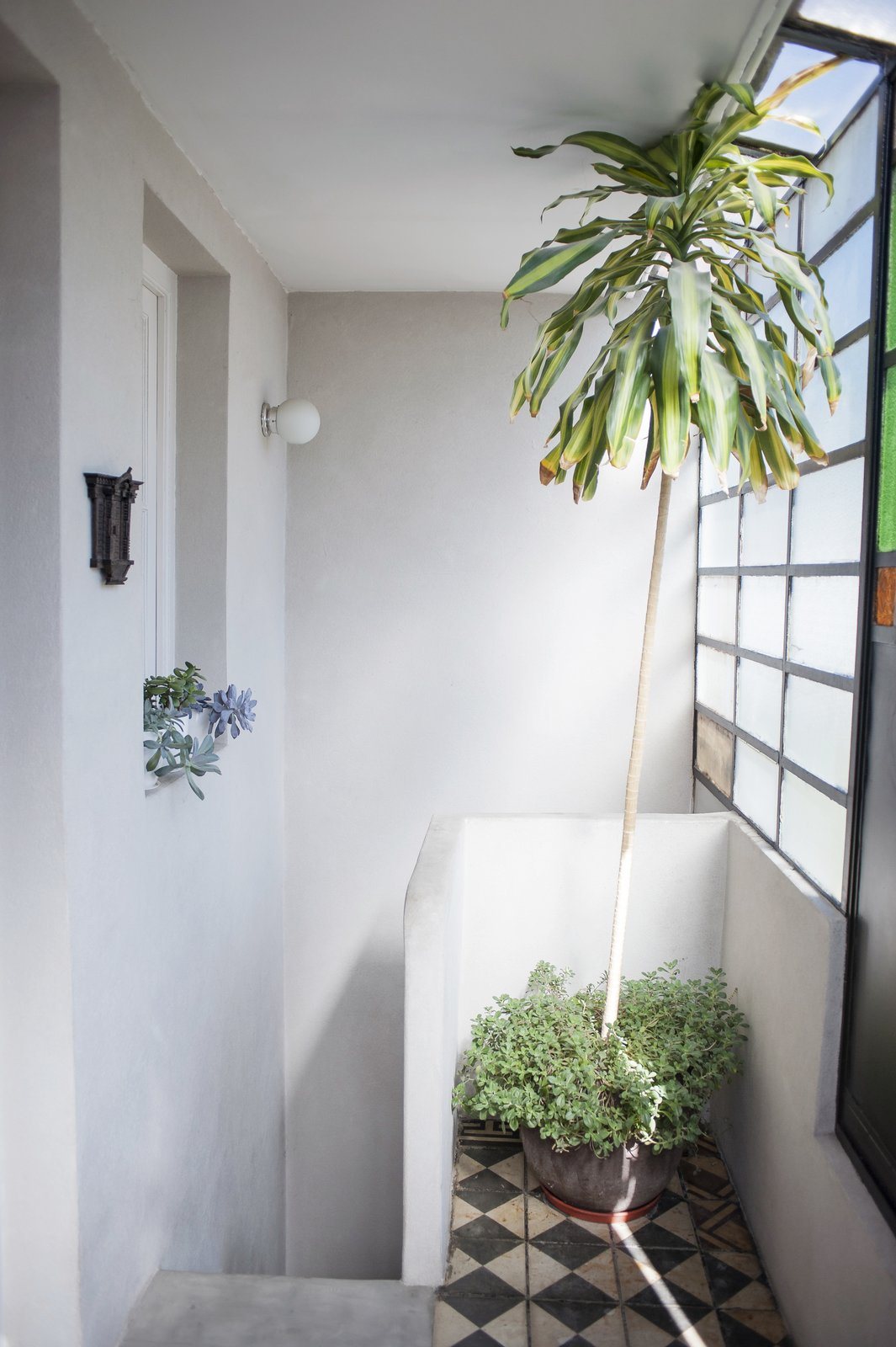 The halway upstairs gets natural light during the entire day. Artigas by melisa