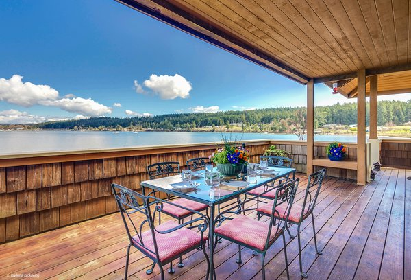 Indoor/Outdoor Entertaining Spaces Photo  of Idyllic Lopez Island Bayfront Home modern home