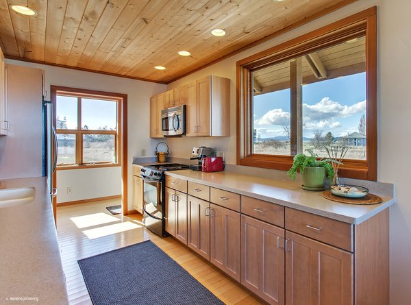 Great Views from all the Kitchen Windows Photo 10 of Idyllic Lopez Island Bayfront Home modern home
