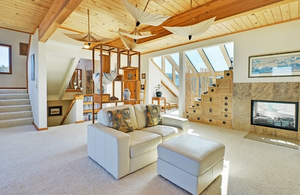 2nd Floor Sun Room Open Bright and Airy with Year Round Light Photo 11 of Idyllic Lopez Island Bayfront Home modern home