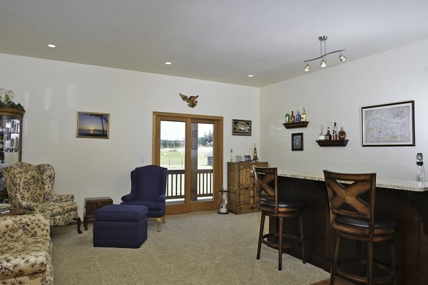 Wet Bar /Entertaining Area with French Doors to Porch Photo 4 of Sweetbriar Farm modern home