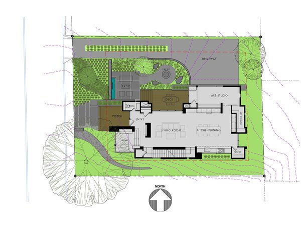 Site/Floor Plan Photo 10 of Pyrite House modern home