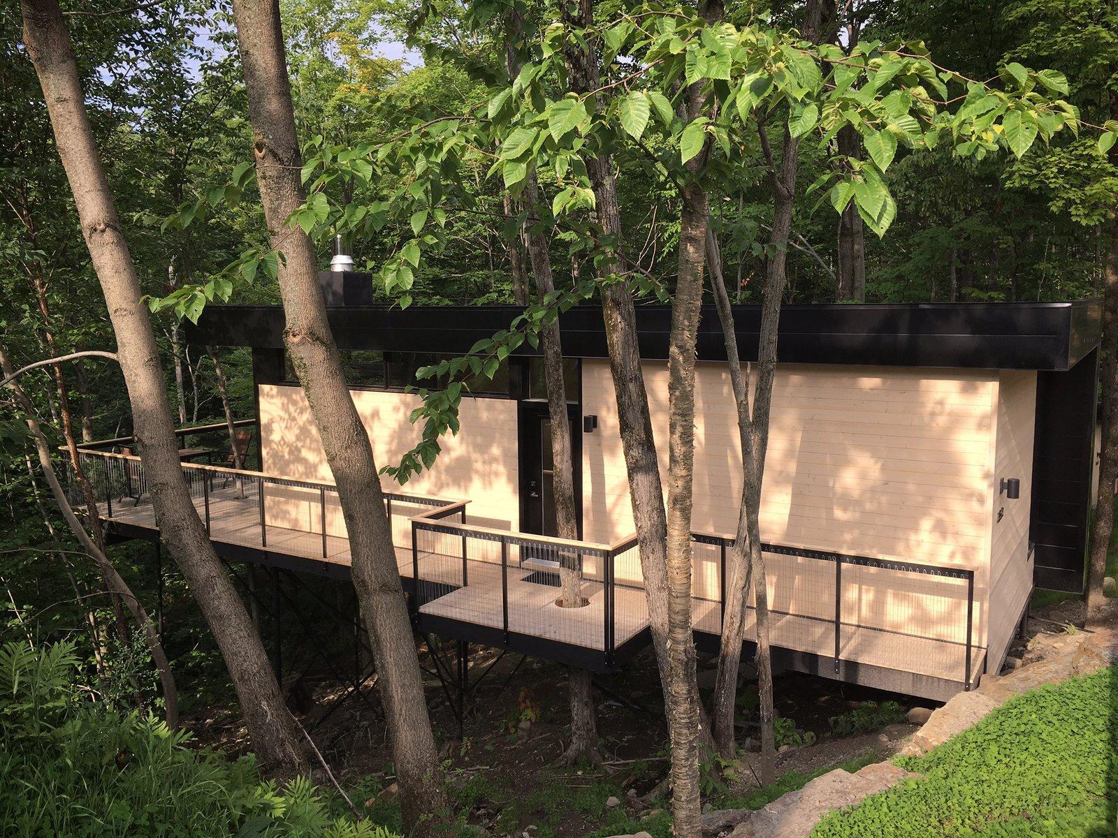 Summer Exterior Shot  SHAK Cottages by Martin Delisle