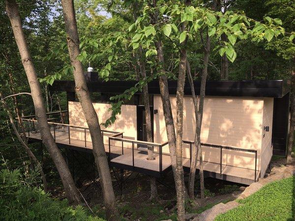 Summer Exterior Shot Photo  of SHAK Cottages modern home