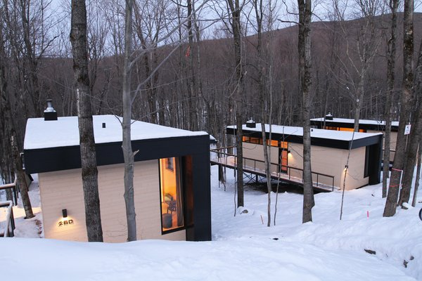 Winter Exterior Shot Photo 13 of SHAK Cottages modern home