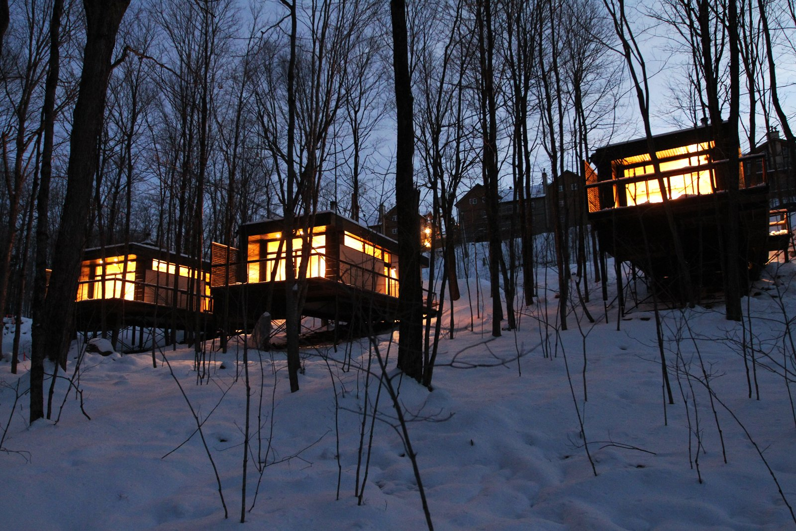 Winter Exterior Shot  SHAK Cottages by Martin Delisle
