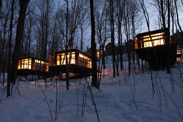 Winter Exterior Shot Photo 15 of SHAK Cottages modern home