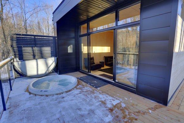 Winter Exterior Shot Photo 17 of SHAK Cottages modern home