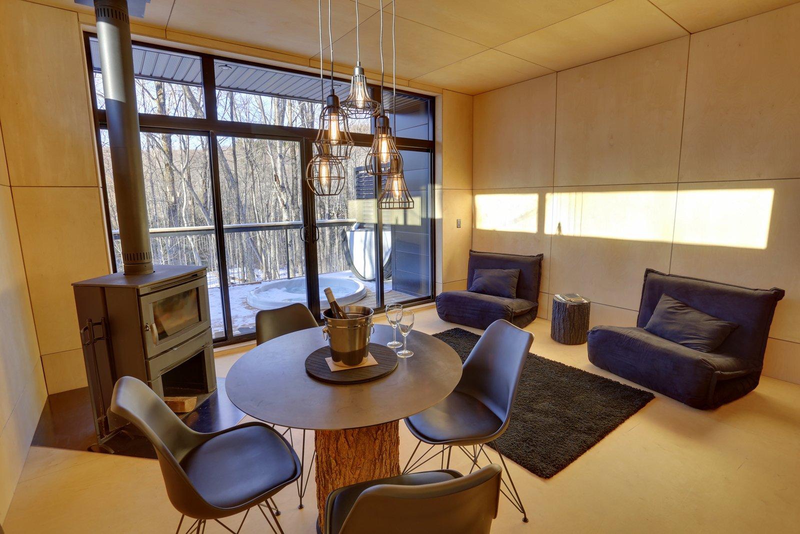 Living Space  SHAK Cottages by Martin Delisle