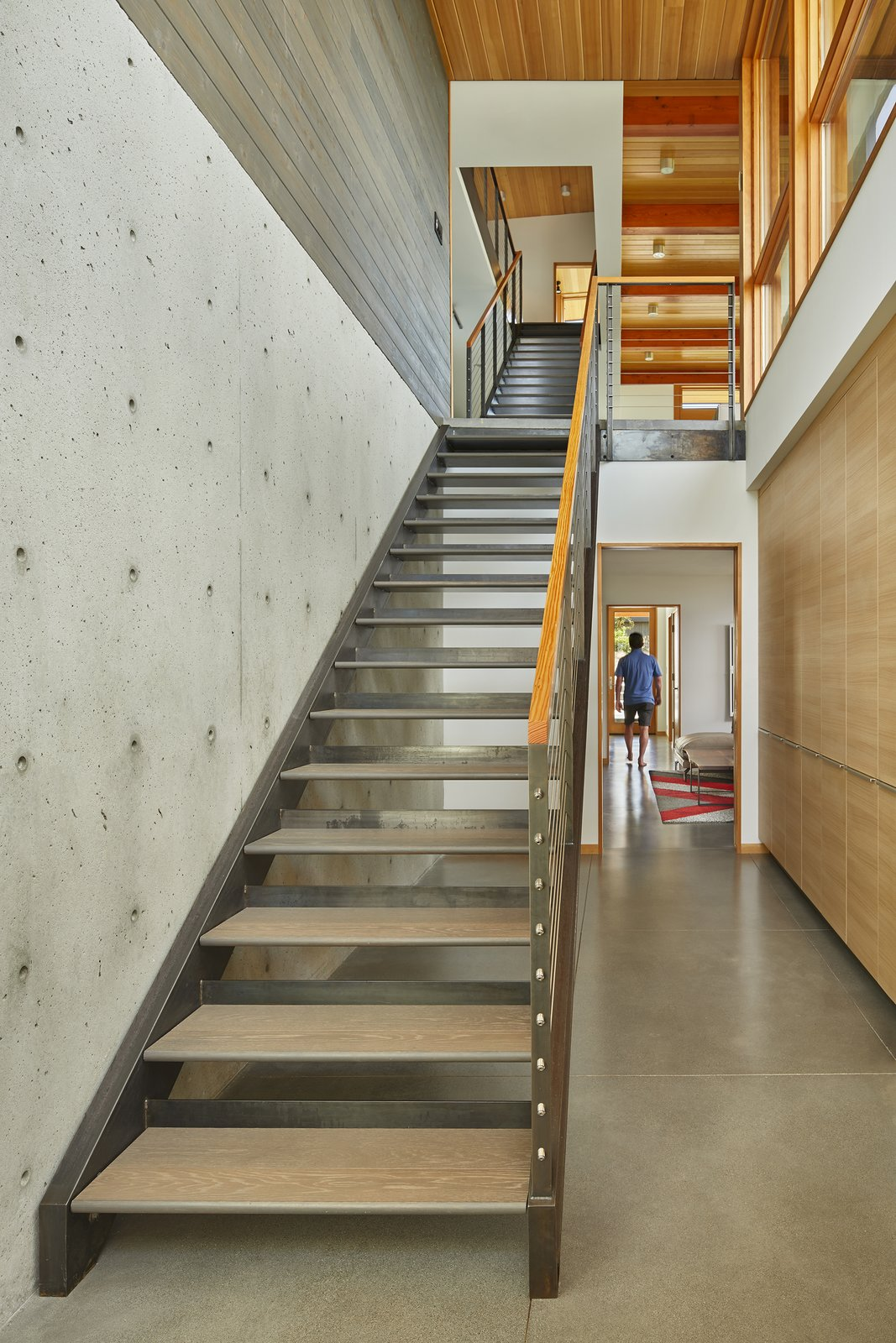 Tagged: Staircase, Wood Tread, Metal Tread, and Metal Railing.  Issaquah Highlands Residence by Studio Zerbey Architecture