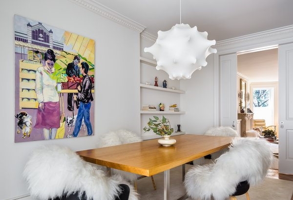 Modern home with end tables, living room, and table lighting. Photo 6 of Greenpoint Townhouse