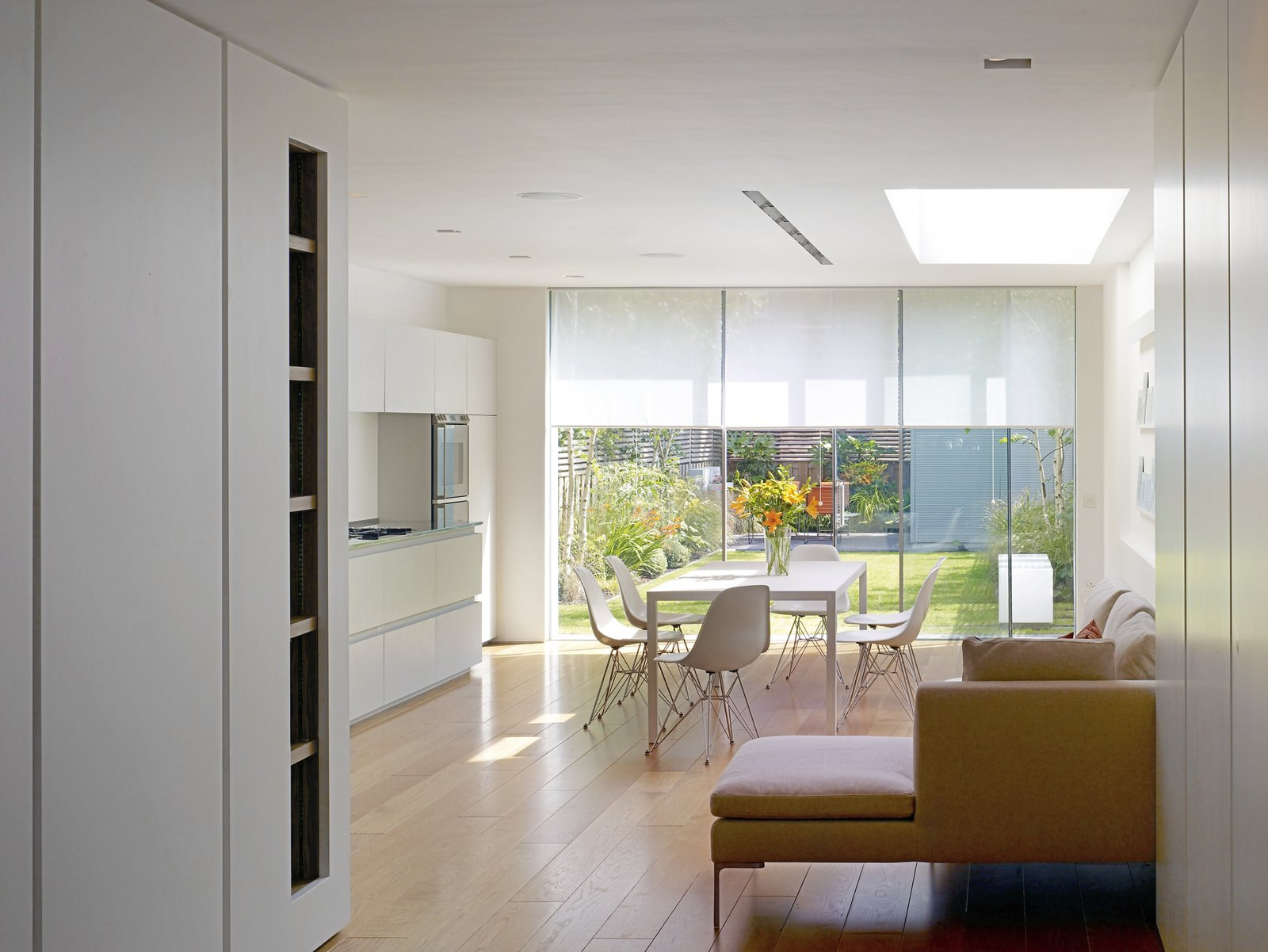 Tagged: Chair, Kitchen, Table, White Cabinet, and Light Hardwood Floor. Elm Grove by Thompson + Baroni