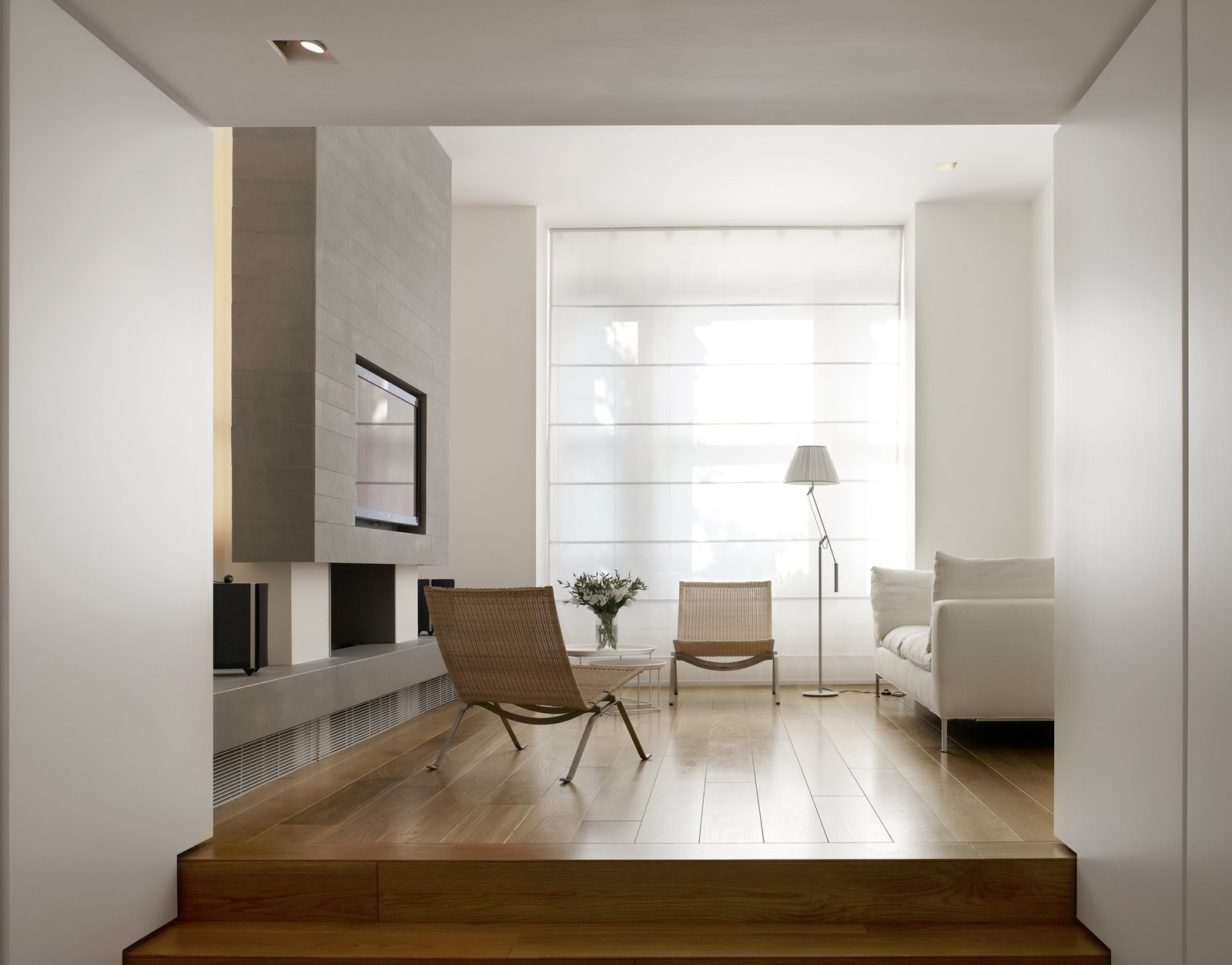 Tagged: Living Room, Floor Lighting, Medium Hardwood Floor, and Chair.  Elm Grove by Thompson + Baroni