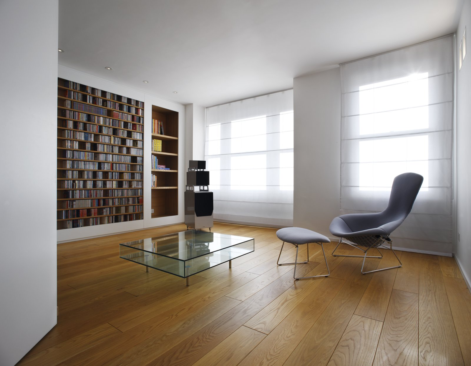 Tagged: Living Room, Bookcase, Chair, and Coffee Tables.  Elm Grove by Thompson + Baroni