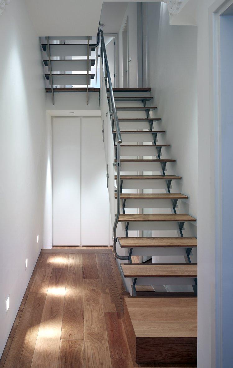 Tagged: Staircase, Metal Tread, Wood Tread, and Metal Railing.  Elm Grove by Thompson + Baroni