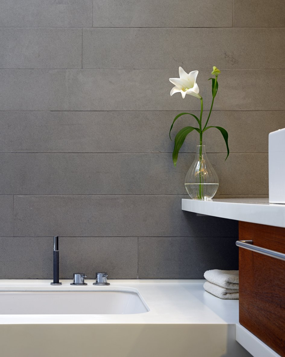 Tagged: Bath Room, Undermount Tub, Soaking Tub, and Quartzite Counter.  Elm Grove by Thompson + Baroni
