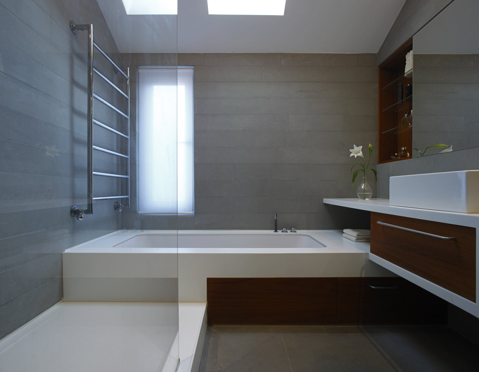 Tagged: Bath, Quartzite, Concrete, Soaking, Undermount, and Enclosed.  Best Bath Enclosed Quartzite Photos from Elm Grove