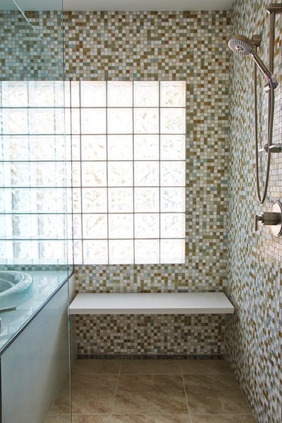 Master Bathroom Shower with French Drain Photo 3 of Wang House modern home