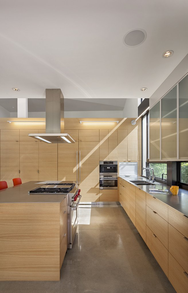 white oak cabinets and Sub-Zero and Wolf appliances  6th Street residence by Sarah Goldblatt