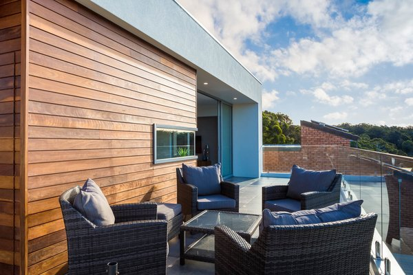 Timber Features of Front Terrace Photo 13 of The Tathra Residence modern home