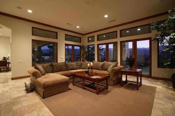 Family Room Photo  of Whispering Wind modern home