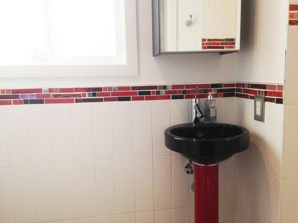 Photo 3 of California Residence: Retro Red Bathroom modern home