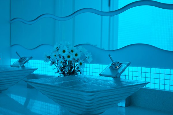 Photo 6 of Glow In The Dark Glass Tile Bathroom modern home