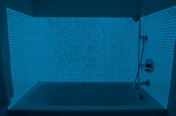 Photo 3 of Glow In The Dark Glass Tile Bathroom modern home